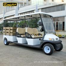 EXCAR 48V con batería de 4 asientos con carrito de golf eléctrico club car con caja de carga
