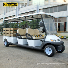 EXCAR 48V battery operated 4 seats electric golf cart club car with cargo box