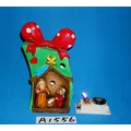 Colorido Changing LED Lined Resin Nativity Set com Silent Night Song