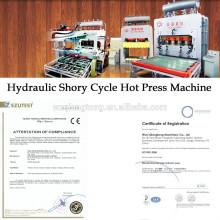 Máquina de laminação a pressão quente hidráulica para placa de madeira MDF / HDF
