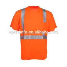 Hot New Products For 2015 Reflective Workwear Safety t-Shirts custom reflective shirt For Worker
