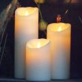 cera de parafina luminara marfim vela a pilhas