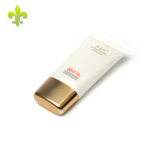 60 ml Pearl white two color screen printing plastic parts tube slide with super oval plating cap