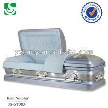 bleu cercueil métallique intérieur en gros