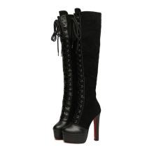 Nuevas botas de mujer de tacón alto de colección de moda (Y 44)