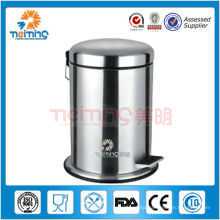 18/0 stainless steel foot pedal trash can