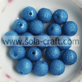 8MM Turquoise Acrylic Beads For Decoration Solid Loose Plastic Round Printed Beads