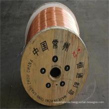 Alambre de acero revestido de cobre del CCS del cable eléctrico de 0.10mm-4.0mm