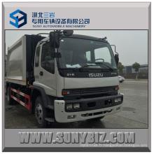 Isuzu Camion compresseur à ordures à chargement arrière 10cbm