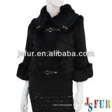 2013 New product stylish beautiful party fox fur collar rabbit fur and wool garment