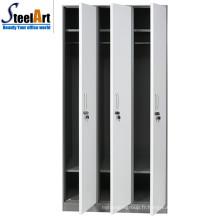 Design moderne vente chaude matériau en acier 3 portes almirah prix