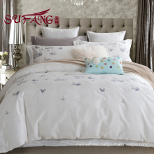 5star Factory Directly High Quality Hotel Bedding Linen Supplier 100 cotton print bedding sets 60s 300TC