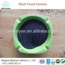 natürlicher Korund Preis für Polieren und Sandstrahlen 80-85% schwarzes Aluminiumoxid