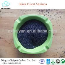 natural corundum price for polishing and sandblasting 80-85% black aluminium oxide