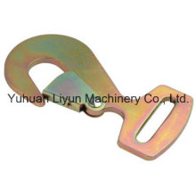 2in X 11000lbs / 50mm X 5000kg High Quality Metal Snap Hook for Ratchet Strap, Cargo Lashing