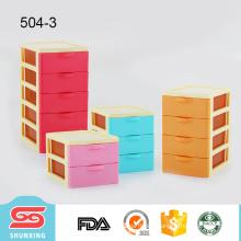 multipurpose desktop supplies 3 tier plastic storage drawer for sale