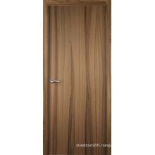 MDF Panel Customized Design Engineered Veneered Entry Door Rustic Wood
