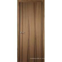 O painel do MDF personalizou a madeira rústica folheada projetada projeto da porta de entrada