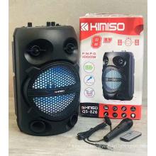 QS-826 8 Inch Speaker Outdoor Portable Trolley Speaker DJ Speaker System Subwoofer Sound Box With LED Light KIMISO