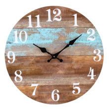 Wooden Retro brown clock