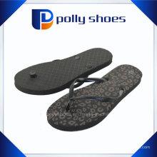 Sandales de flip flop femmes synthétiques végétaliens noirs