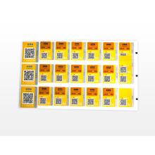 Papieretikett Plastiketikett Transparenter Aufkleberdruck