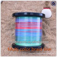 BRLN004 1200 bobine tresse couleur muti ligne de pêche