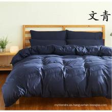 Juego de sábanas de cama de microfibra maciza cepillada para el hogar