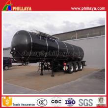 Semi-remorque de camion-citerne d'asphalte de 3axles avec l'arrangement de chauffage