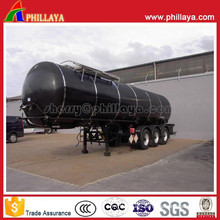 3axles Asphalt Tanker Semi Trailer with Heating Arrangement