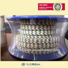 PTFE grafitado Embalagem com cantos de fibra de aramida fabricante