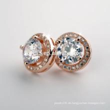 China Schmuck Hersteller Großhandel Fancy rund 925 Sterling Silber Ohrring Bolzen