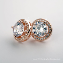 China Jewelry Manufacturer Wholesale Fancy round 925 sterling silver earring stud