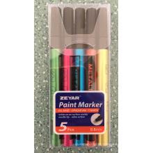 Marcador de tinta metálica 4PCS em saco de PVC