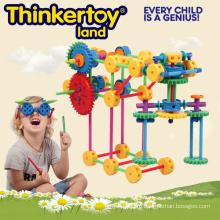 Пластиковые интеллектуальные и образовательные игрушки для детей Пластиковые строительные блоки
