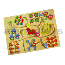 Wooden Tracing Puzzle with Numbers (80130)