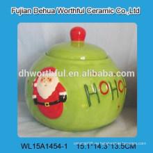 Preciosa Navidad Santa Claus jarras de galletas de cerámica