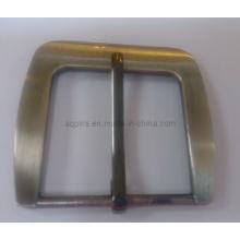 Hebilla de cinturón ajustable en chapa de níquel cepillado (hebilla de cinturón-013)