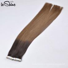 Класс 8А 9А 10А Двойная нарисованная софт не Запутывать никакой линять ПУ уток кожи ленты наращивание волос