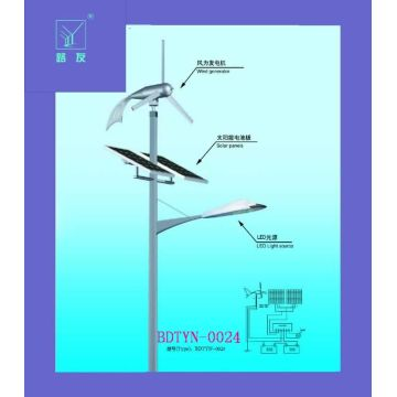 Wind and Solar Hybrid System Street Light