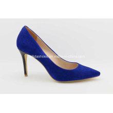 Moda sapatos de salto alto em couro feminino para senhora sexy