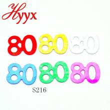 HYYX alta calidad diferentes tamaños partido favor 80.o confeti de la fiesta de cumpleaños