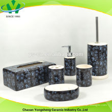 bathroom gift set with black color and special decal