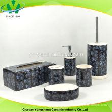 Conjunto de presente de casa de banho com cor preta e decalque especial
