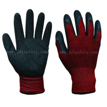 Латекс с покрытием перчатки работы хлопка и спандекс оболочки (L3020)
