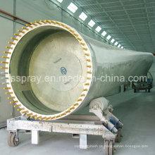 Cabine de pulverizador de pintura industrial não padrão grande