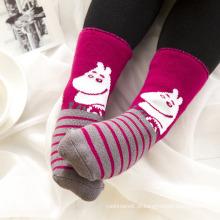 Crianças infantis bebê infantil meias de tubo de algodão terry completo (ka404)