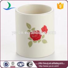 Décoration florale décalque en céramique mini bougeoir grossiste