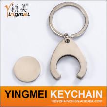 Anneau de clé en métal de modèle 3D de logo découpé par logo personnalisé (X04025)