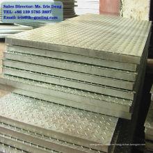 Revestimiento de acero galvanizado, rejilla galvanizada, pasarela de rejilla galvanizada